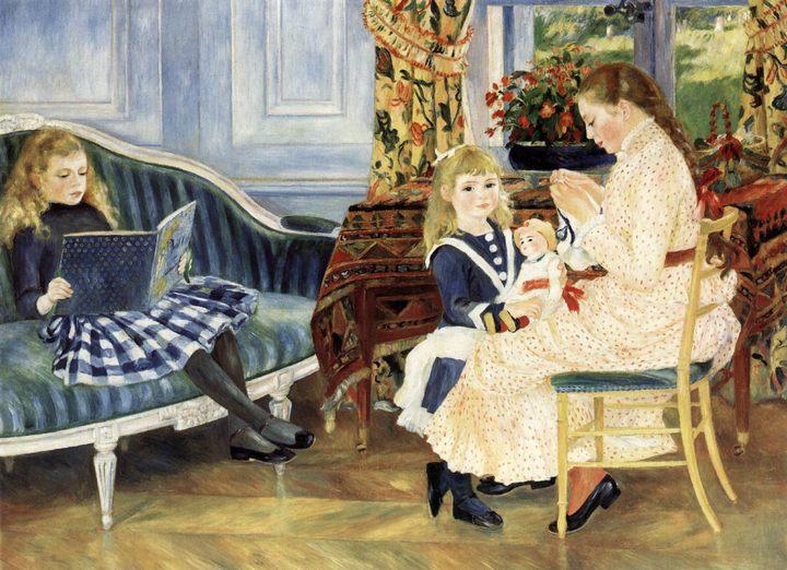 Полдень детей в Варжемоне :: Ренуар Пьер Огюст, описание картины - Pierre-Auguste Renoir фото