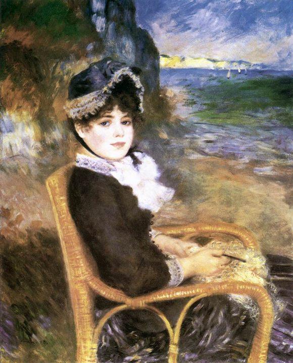 На берегу моря :: Ренуар Пьер Огюст, описание картины - Pierre-Auguste Renoir фото