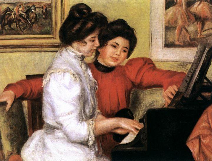 Ивонна и Кристина Лерой, играющие на рояле :: Ренуар Пьер Огюст, описание картины - Pierre-Auguste Renoir фото