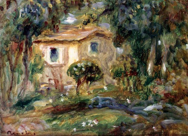 Пейзаж Ле Канне :: Ренуар Пьер Огюст, описание картины - Pierre-Auguste Renoir фото