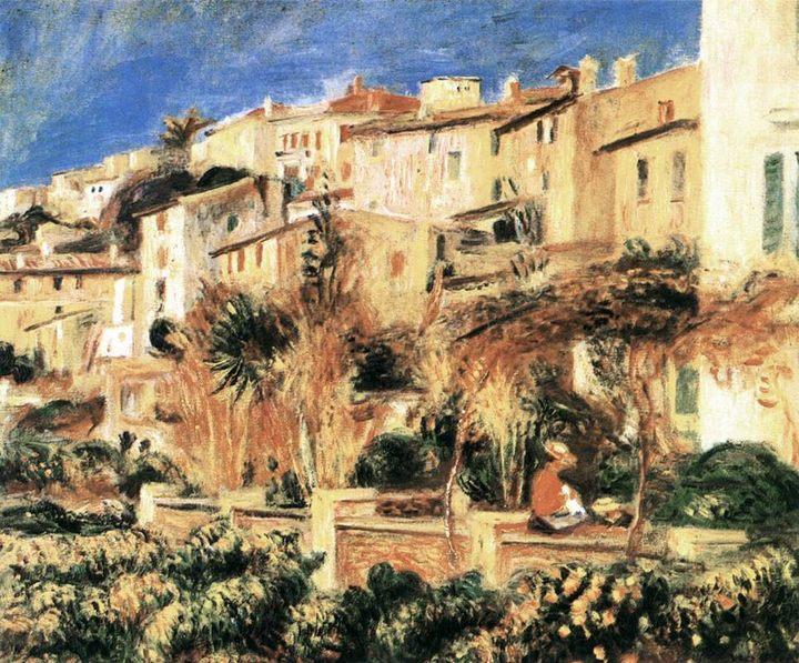 Терраса в Кань :: Ренуар Пьер Огюст - Pierre-Auguste Renoir фото