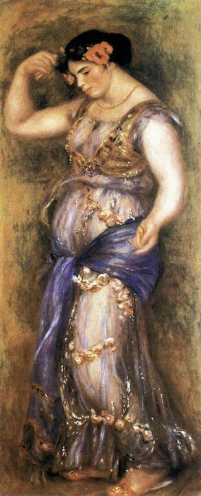Танцовщица с кастаньетами :: Ренуар Пьер Огюст, описание картины - Pierre-Auguste Renoir фото