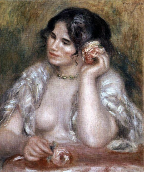Габриэль с розой :: Ренуар Пьер Огюст - Pierre-Auguste Renoir фото