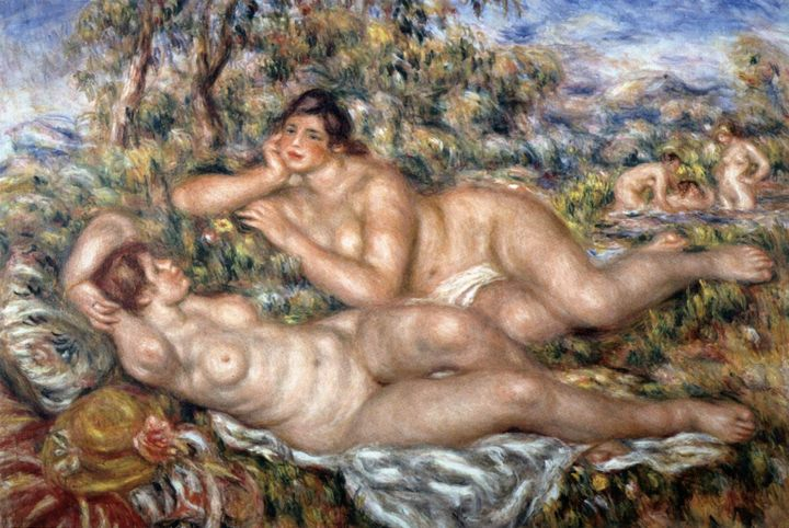 Купальщицы :: Ренуар Пьер Огюст, описание картины - Pierre-Auguste Renoir фото