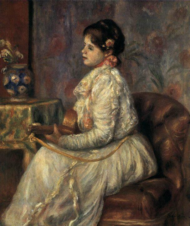 Гитаристка :: Ренуар Пьер Огюст - Pierre-Auguste Renoir фото
