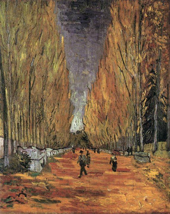 парковый пейзаж Алискамп ( находится к югу от Арле) :: Винсент Ван Гог - Van Gogh фото