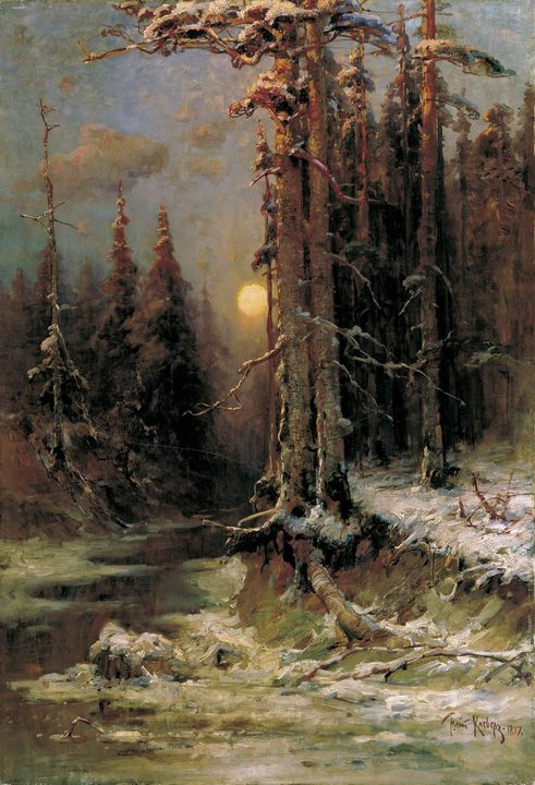 Закат солнца зимой (Зимний вечер) :: Клевер Ю.Ю. - Klever Yuliy фото