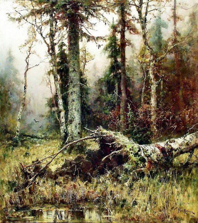 картина Лес (лесной пейзаж) :: Клевер Ю.Ю. - Klever Yuliy фото