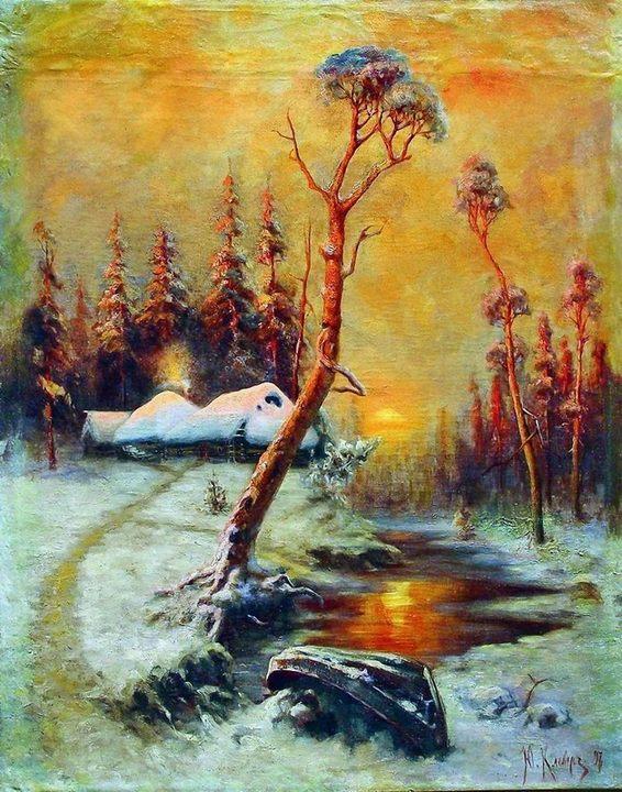 Зимний пейзаж с соснами ::  Клевер Ю.Ю. - Klever Yuliy фото