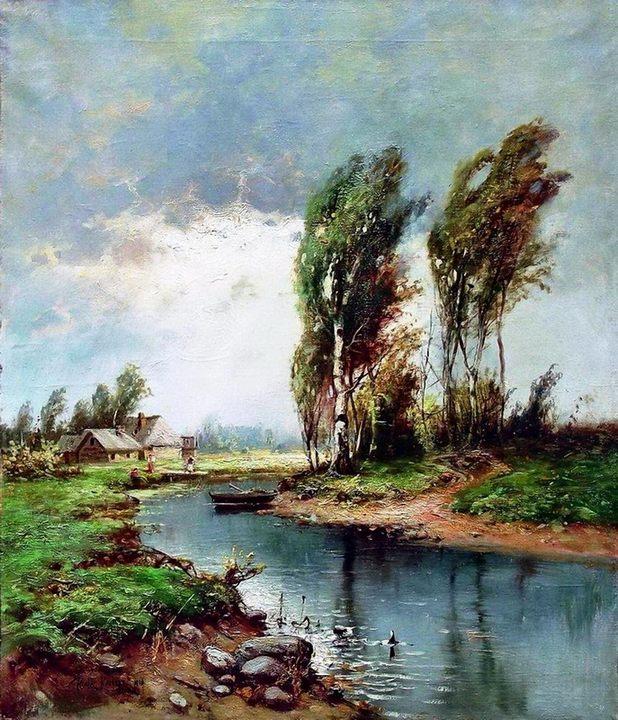 сельский пейзаж Будет дождь :: Клевер Ю.Ю. - Klever Yuliy фото