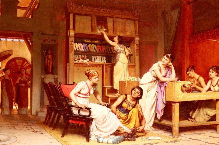 Сандальная мастерская :: Леон Глейз (Leon Glaize) - Древний Рим и Греция, Египет фото
