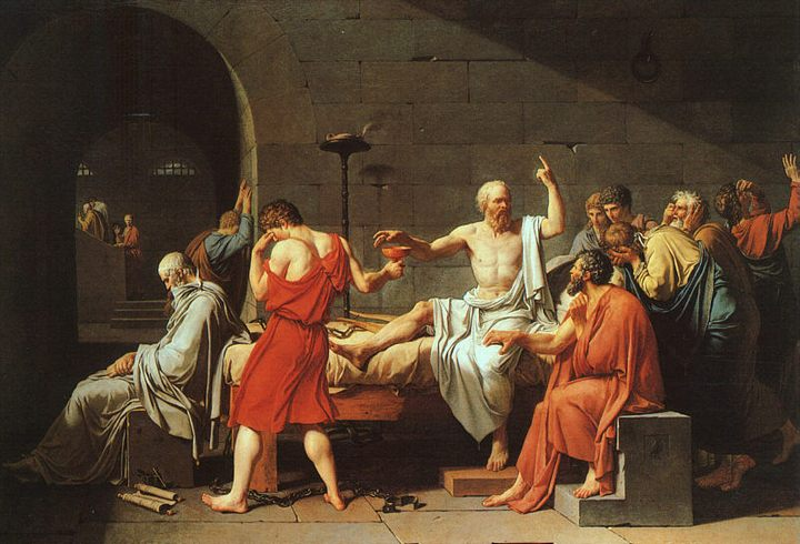 a description of socrates execution in platos apology Aristophanes's depiction is important because plato's socrates says at his trial (apology 18a says he was not himself present at socrates's execution).