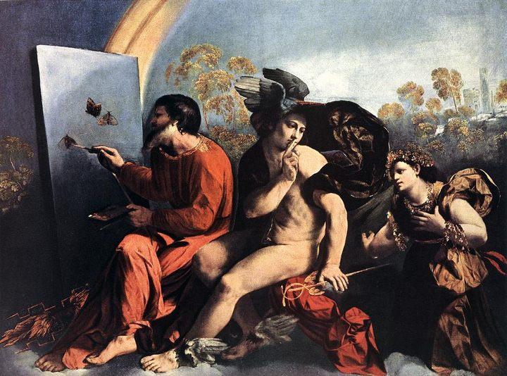 Юпитер, Меркурий и Добродетель, художник Доссо Досси, описание картины  - Античная мифология фото