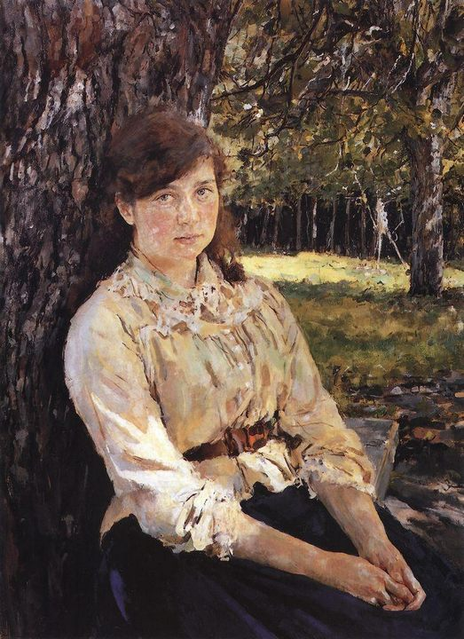 «Девушка, освещённая солнцем» :: Серов Валентин Алексеевич, описание картины - Портреты фото