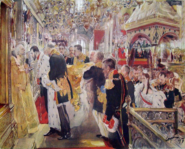 Коронация Николая II :: Серов Валентин Алексеевич, описание картины - Исторические сюжеты в живописи фото
