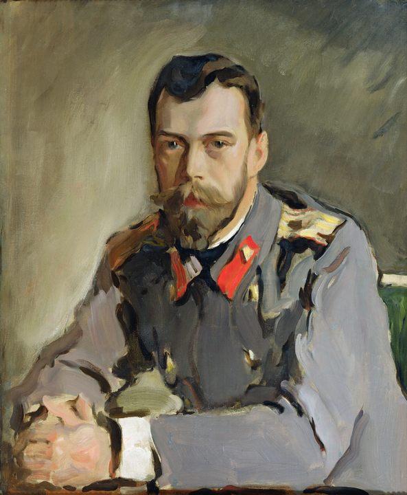 Николай II :: Серов Валентин Алексеевич, описание картины - Портреты фото