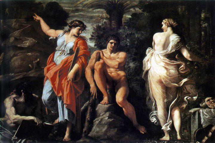 Выбор Геракла :: Аннибале Карраччи (Annibale Carracci) - Античная мифология фото