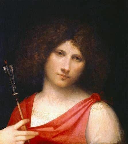 Мальчик со стрелой (портрет юноши) :: Джорджоне - Портреты фото