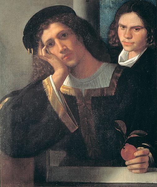 Двойной портрет (мужской портрет) :: Джорджоне - Портреты фото
