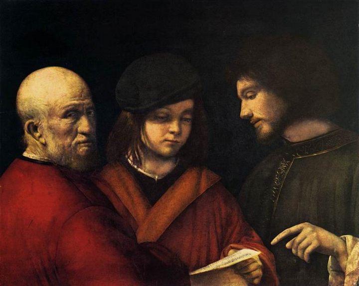 картина Три возраста жизни (мужской портрет) :: Джорджоне - Портреты фото