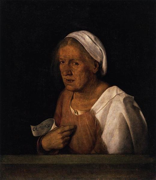 картина Старуха :: Джорджоне, описание - Портреты фото