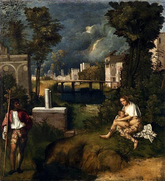 картина Буря :: Джорджоне, описание - Жанровые сцены фото
