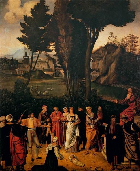 картина Соломоново решение :: Джорджоне, описание - Религиозные сюжеты в живописи фото