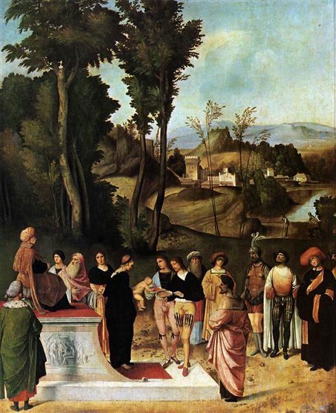 Испытание Моисея огнем :: Джорджоне - Библейские сюжеты в живописи фото
