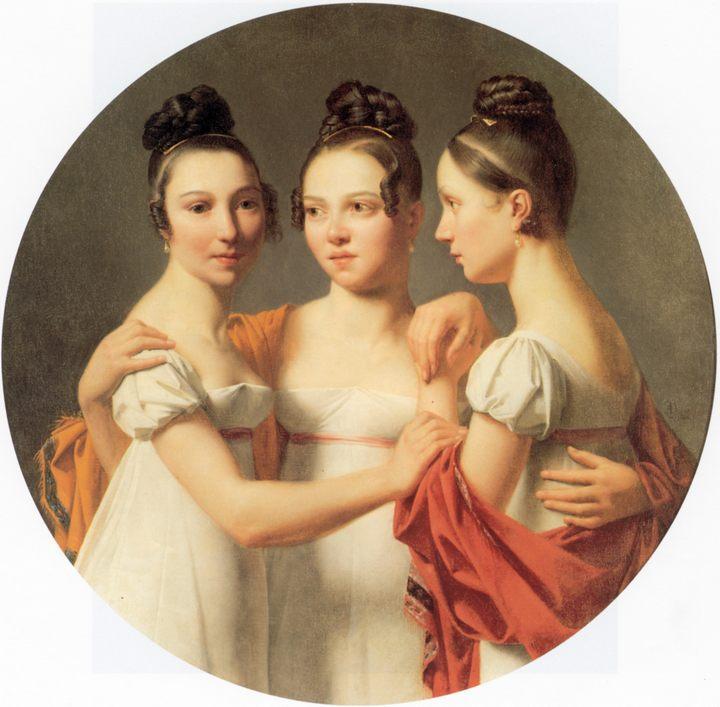 картина Три грации :: Александр-Жан Дюбуа-Драхоне - Портреты фото