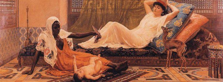 Новая звезда гарема :: Фредерик Гудолл (Frederick Goodall) - Картины ню, эротика в шедеврах живописи фото