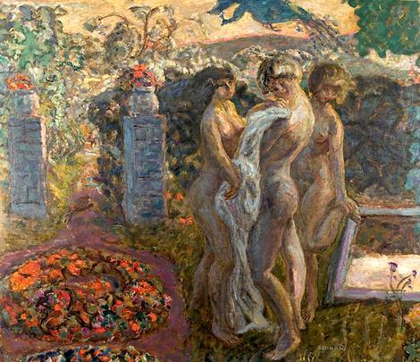 Три грации :: Пьер Боннар, описание картины - Картины ню, эротика в шедеврах живописи фото