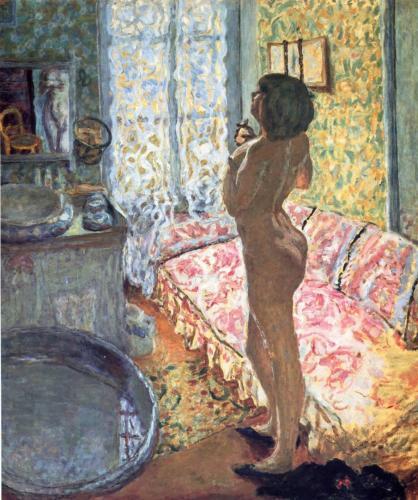 картина ню, Обнаженная против света :: Пьер Боннар - Картины ню, эротика в шедеврах живописи фото