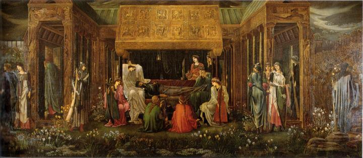 Последний сон короля Артура в Авалоне :: Сэр Эдвард Бёрн-Джонс - Edward Coley Burne-Jones фото