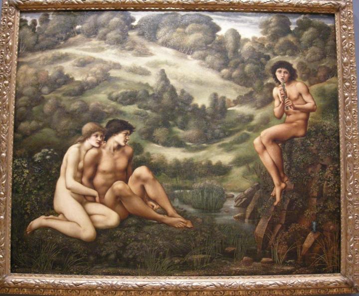 Игрок на флейте :: Сэр Эдвард Бёрн-Джонс - Edward Coley Burne-Jones фото
