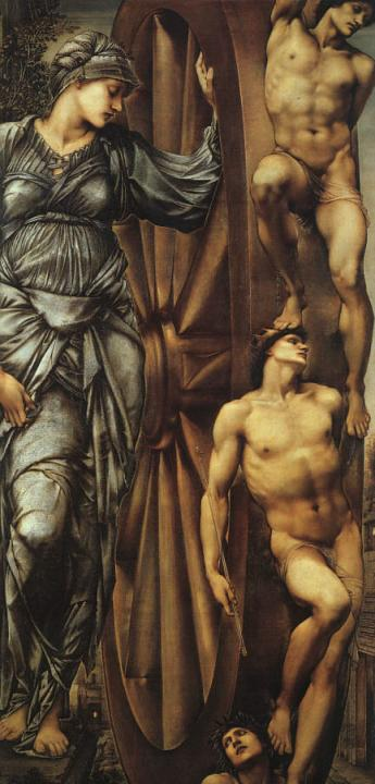 Колесо Фортуны :: Сэр Эдвард Бёрн-Джонс (аллегория) - Edward Coley Burne-Jones фото