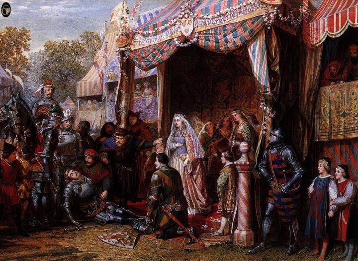 Ланселот поражает Мордауна :: Сэр Эдвард Бёрн-Джонс - Edward Coley Burne-Jones фото