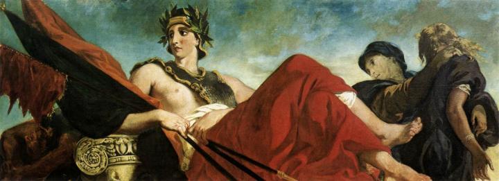 Война :: Эжен Делакруа, аллегория - Фрески, монументальная живопись, роспись стен фото