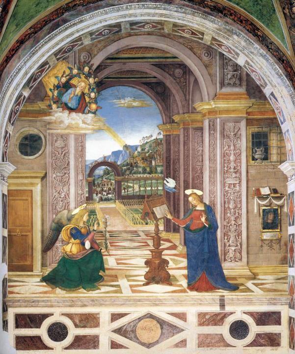фреска Благовещение :: Зайзенеггер, Якоб - Фрески, монументальная живопись, роспись стен фото