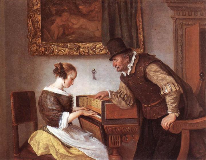 Урок игры на клавесине :: Ян Стен - Жанровые сцены фото