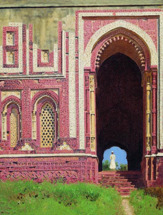 Ворота около Кутуб-Минара. Старый Дели :: Василий Васильевич Верещагин - Архитектура фото