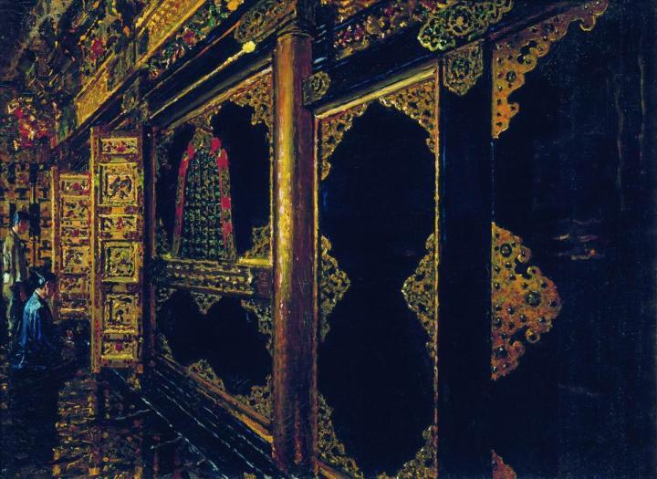 Храм в Токио  :: Василий Васильевич Верещагин, описание картины  - Архитектура фото
