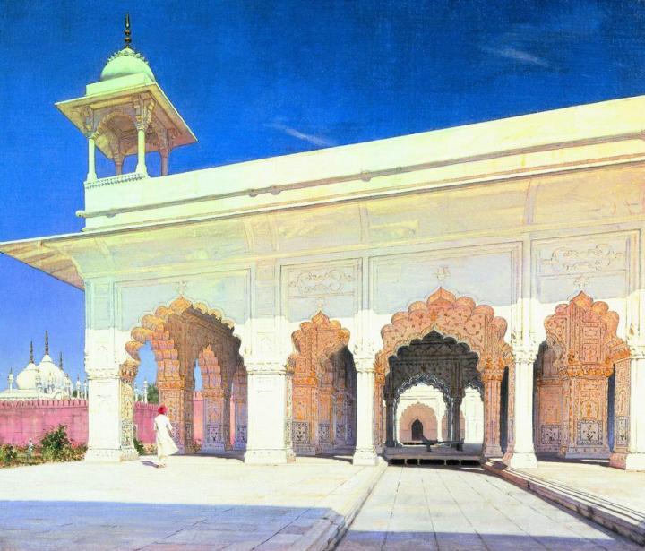 Тронный зал Великих моголов Шах-Джахана и Ауранг-Зеба в форте Дели :: Василий Васильевич Верещагин - Арабский восток фото