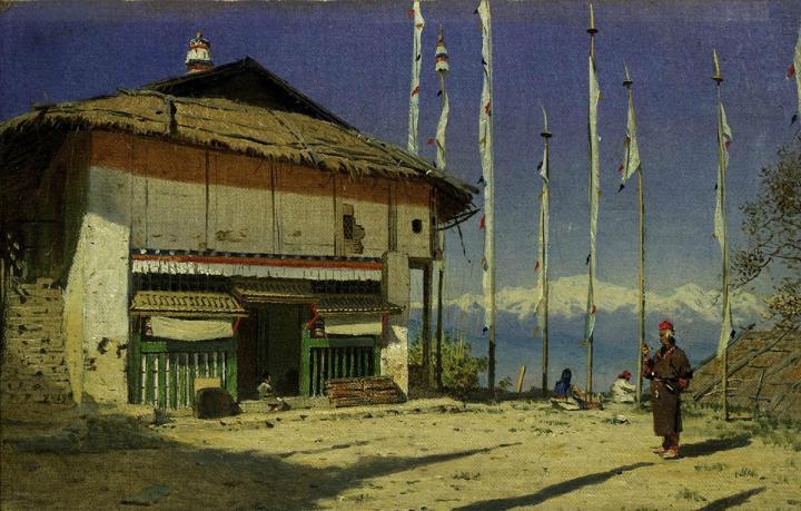 Буддийский храм в Дарджилинге. Сикким :: Василий Васильевич Верещагин - Архитектура фото