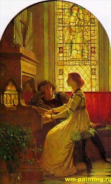 картина Гармония - Dicksee, Sir Frank Bernard фото