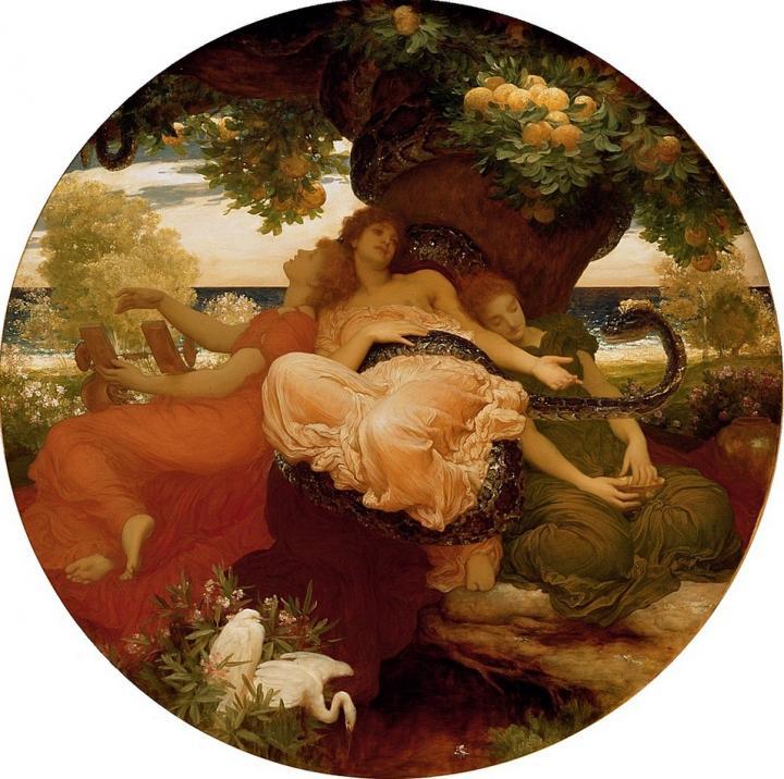 Сады Гесперид :: Лейтон Фредерик, описание картины - Leighton, Frederick фото