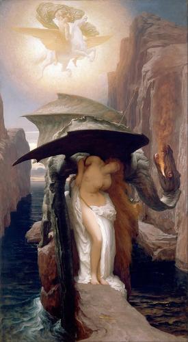 картина Персей и Андромеда :: Фредерик Лейтон, описание картины - Leighton, Frederick фото