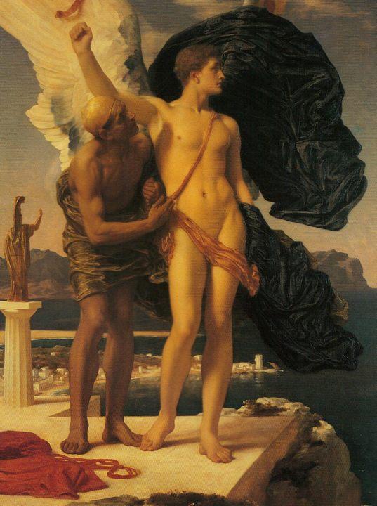 Дедал и Икар :: Фредерик Лейтон, описание картины - Leighton, Frederick фото