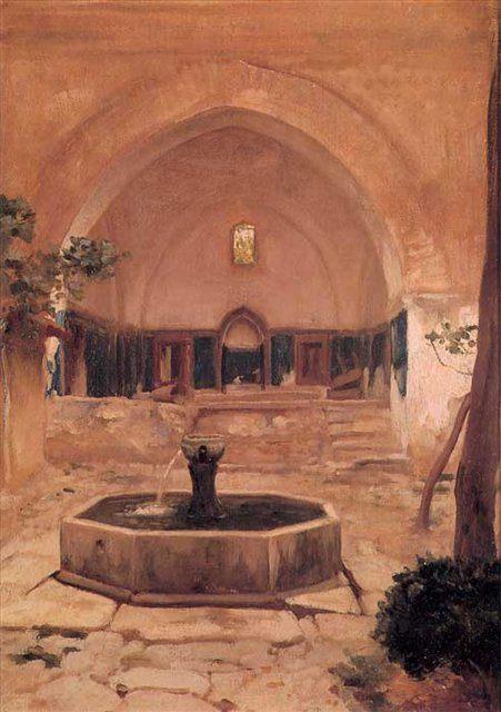 Внутренний двор, Фредерик Лейтон, описание картины - Leighton, Frederick фото