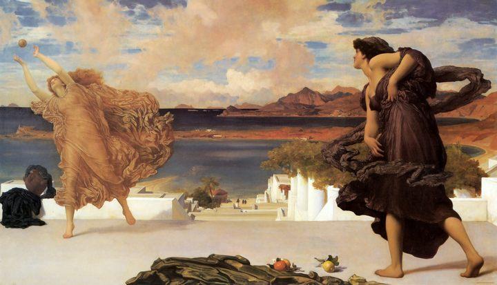 Греческие девушки, играющие в мяч :: Лейтон Фредерик - Лейтон Фредерик фото