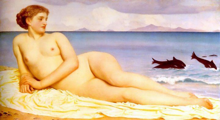 Акатея, нимфа побережья :: художник Фредерик Лейтон - Leighton, Frederick фото